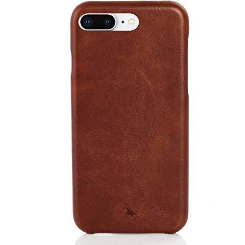BULLAZO Menor Classic, Edle Hülle aus Leder, Kompatibel mit iPhone 8 Plus, Braun