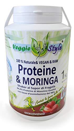 Veggie Style - Proteina e Moringa gusto fragola, kg. 1