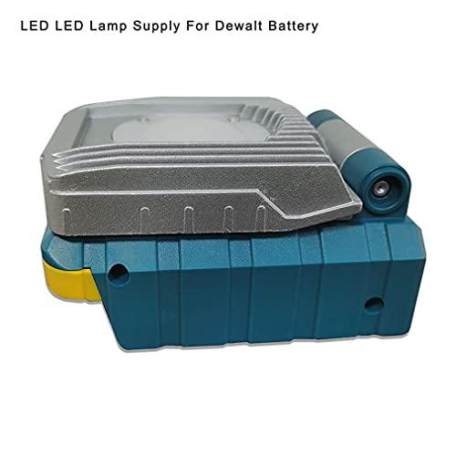 Herramienta eléctrica plegada 18V 10W Fuente de batería de Iones de Litio Lámpara de luz de Trabajo LED Gris Azul para Dewalt
