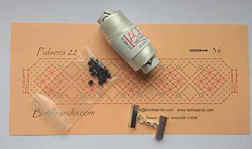 Kit para hacer pulsera de encaje de bolillos (blanco)