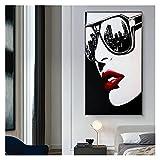 CBYLDDD Big City Nights Gafas de Sol Pintura Arte de la Pared Pósteres y Impresiones Nordic Decorative Picture for la Sala de Estar Decoración de la casa 20x40 Sin Marco