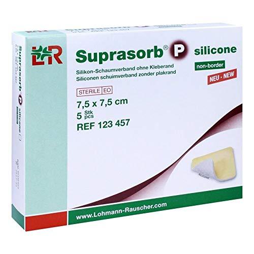 SUPRASORB P silicone Schaumverb.non-bor.7,5x7,5 cm 5 St