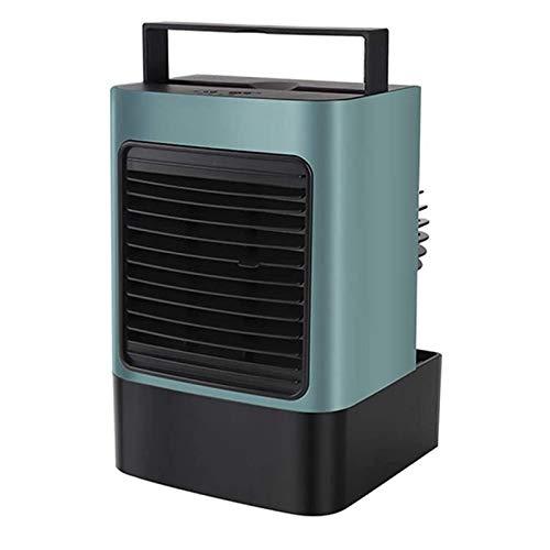 RETYLY Ventilador de Aire Acondicionado Purificador de Aire Ventilador de RefrigeracióN por Agua LáMpara de Calentamiento de Escritorio Ventilador de Mesa de RefrigeracióN Verde