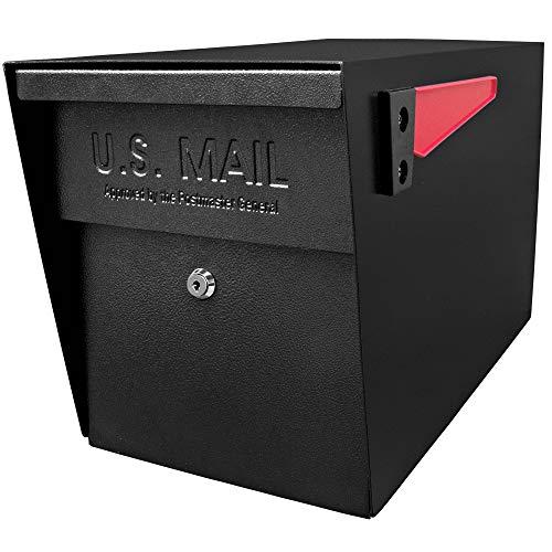 Epoch 7106 MailBoss Curbside Locking Mailbox, Black (Renewed)