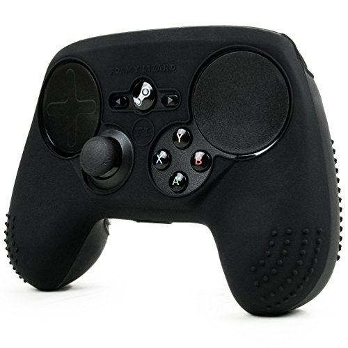 ParticleGrip STUDDED Skin for Steam Controller by Foamy Lizard ® Sweat Free 100% Silicone Skin Cover w/Raised Anti-slip Studs *CONTROLLER NOT INCLUDED* (SKIN, BLACK)