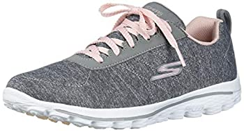 Skechers Women s Go Walk Sport Relaxed Fit Golf Shoe Gray/Pink 9.5 M US