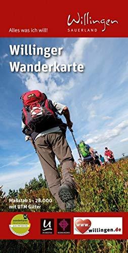 Willinger Wanderkarte: mit UTM-Gitter. Alles was ich will – Willingen Sauerland. Wasser- und reißfest.