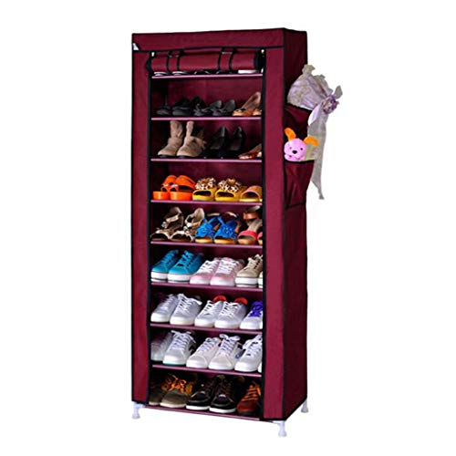XWZH Gabinete de Zapatos a Prueba de Polvo 10 Niveles portátil Zapato almacenaje Organizador de Almacenamiento de Zapatos de pie, estantería de Estante de la Torre de pie Tiene 30 Pares de Zapatos