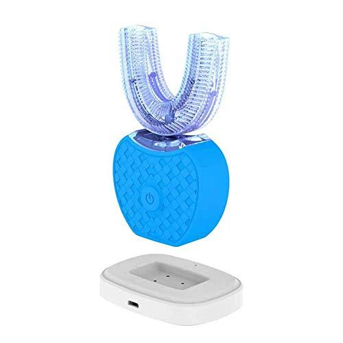 CQ Spazzolino Elettrico A Forma di U Pulizia Totale A 360°Sbiancamento Pulizia Bocca Ricaricabile Blu