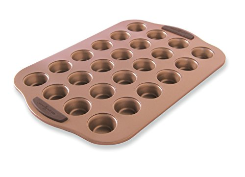 Nordic Ware 48443 Freshly Baked Copper Mini Muffin Pan, 24 Cavity,Silver