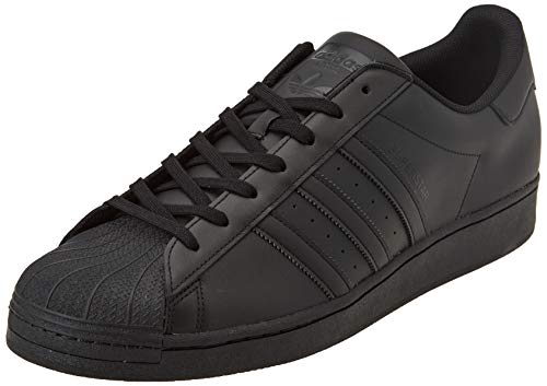 adidas Originals Mens Superstar Sneaker, Core Black/Core Black/Core Black, 44 EU