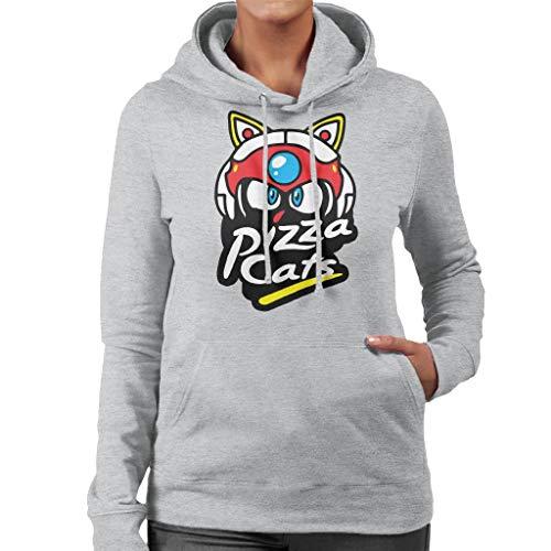 Cloud City 7 Samurai Pizza Cats Pizza Hut Logo Women's Hooded Sweatshirt