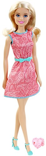 Mattel Barbie Doll - Doll & Ring - Pink Dress (Dgx62)