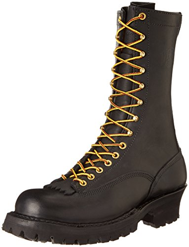 White's Boots Men's 400VLTT Smoke Jumper Lace-To-Toe Boot,Black,12 D...