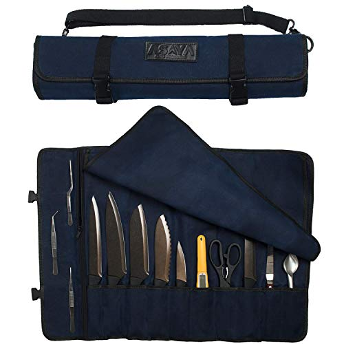 Asaya Canvas Chef Knife Roll Bag