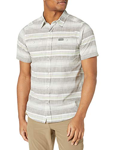 Columbia Herren Leadville Ridge Short Sleeve II Wander-Shirt, Safari Stripe – Active Fit, XX-Large