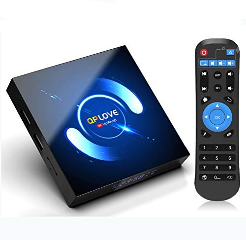 QPLOVE Android 100 TV Box 4GB RAM 32GB ROM H616 Quad Core H265 LAN 100 WiFi 2450GHz BT 50 H265HDR Unterstutzt 3D 6K Full HD Smart TV Box