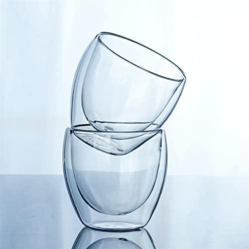 YKW 150 o 250 o 350 o 45 0ML Tazas de café Transparentes de Doble Pared de Cristal Aislar Office Tea (Size : 450ml)