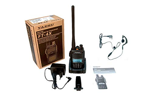 YAESU FT4XE Walkie Talkie Bibanda VHF/UHF 144-440 MHz PINGANILLO PIN19M