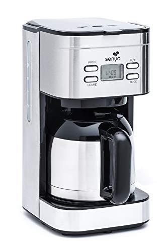 Senya cafetière électrique programmable Inox Hot Coffee,...