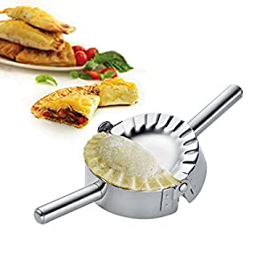Best Utensils Stainless Steel Ravioli Mold Pierogi Dumpling Maker Wrapper Pastry Dough Cutter Kitchen Accessories (S: 3 1/4 inch) by BestUtensils