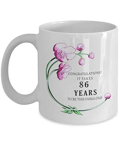 Duang 86. Verjaardagscadeau voor vrouwen uw kop 1932 86. Decoraties Cake Topper Banner ideeën Koffie Theekop