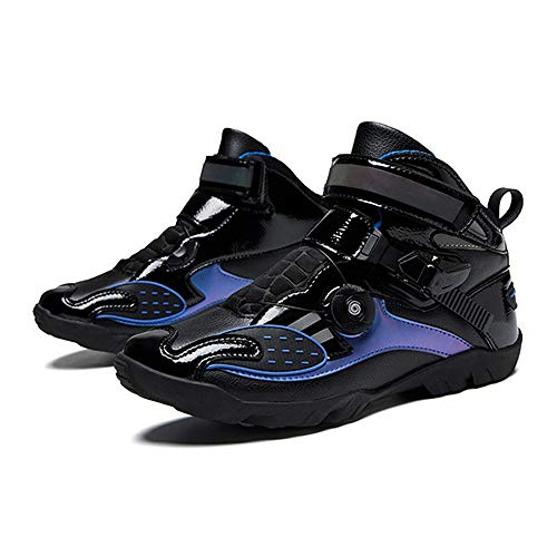 MRDEAR Zapato de Deportivas Hombres Negro Transpirables Impermeables Botas de Moto Zapato Moto Zapatillas de Motocross Calzado Deportivo de Exterior Sneaker, 3 Colores (42 EU,C)