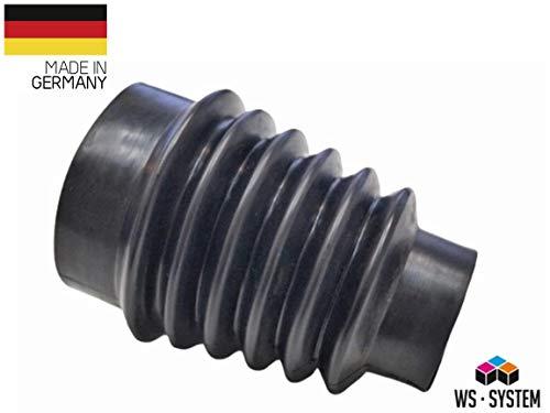 2 Stück Universal Faltenbalg Gummi Manschette Anhänger L 55 mm-165 mm Ø 60 mm - 100 mm | Faltenbalg | Manschette | Achsmanschette | Anhängerbalg | Lenkmanschette | Balg