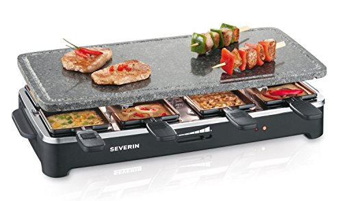 Severin RG 2343 Raclette Partygrill con Piedra Natural, 1.400 W aprox.,...