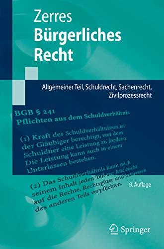 Bürgerliches Recht: Allgemeiner Teil, Schuldrecht, Sachenrecht, Zivilprozessrecht (Springer-Lehrbuch)