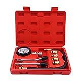 Yuhtech Set de Compresor Probador, Comprobador la Compresión Detector el Cilindro, Comprobador de Compresión para Motores de Gasolina