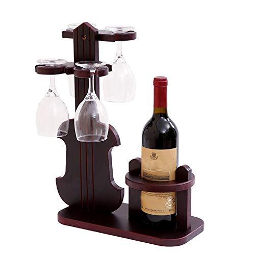 DKee. Auf den Kopf Rotweinflasche Rack Becher Weinglas Flaschenhalter Violine Stil Elegante Dekoration Rack