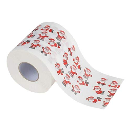 Christmas Toilet Paper Roll - Funny Novelty Gag Gift - 2 Ply Toilet Tissue 250, Full-Color Image Sheets in Each Roll | Santa Claus