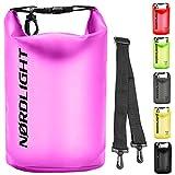 Dry Bag 2L Wasserdichter Beutel - (Pink) Handytasche Und Strandsafe Dokumententasche Für, Strand, Kanu, Stand Up Paddling, Tauchen