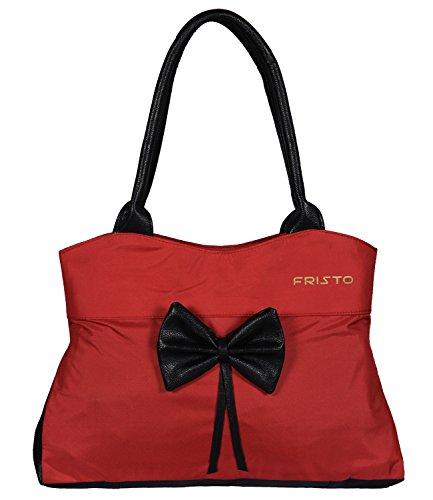 Fristo Women's Handbag (Red and Black)