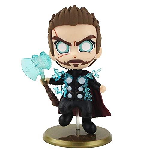 Geyang Vengadores Infinity War Capitán América Doctor Strange Thor Thanos Bobble Head Figura De Acción Juguete De Modelos Coleccionables B