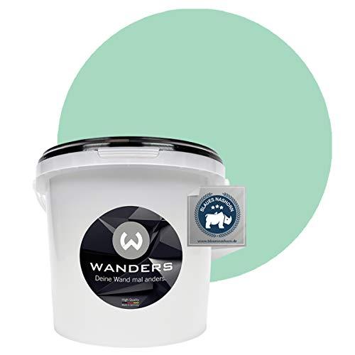 Wanders24® Tafelfarbe (3Liter, Tibet Grün) Blackboard Paint - Tafellack - abwischbare Wandfarbe - in 20 Farbtönen erhältlich - Made in Germany