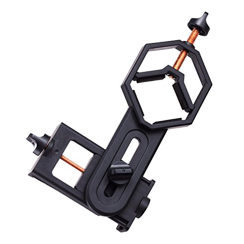 AmScope Eyepiece Mounted Mobile Device Mount for Microscopes & Telescopes