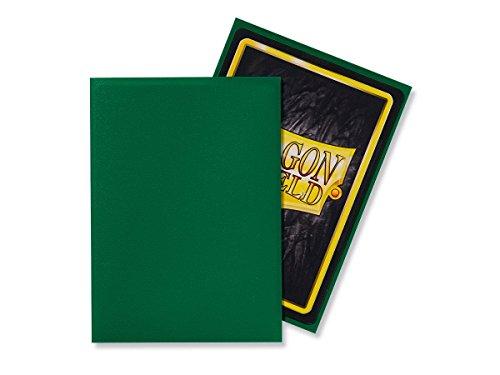 Dragon Shield Matte, Grün / Green 100 Kartenfolien Kartenhüllen Sleeves - für Sammelkarten wie Pokemon Magic - Standardgröße