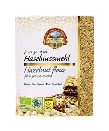 Bio geröstetes Haselnussmehl blanchiert 1,5 kg natürliche, aromatische Sizilianische Haselnüsse Haselnusskerne fein gemahlen gerieben, nicht entöltes Haselnusspulver, glutenfrei 10x150 gr