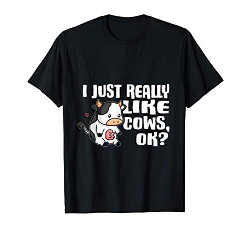 I Just Really Like Cows Ok Lindo Granjero Disfraz De Vaca Camiseta