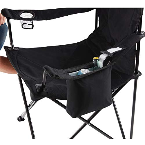 417qX3hFhSL - Coleman Camping Chair with 4 Can Cooler | Chair with Built In 4 Can Cooler, Black