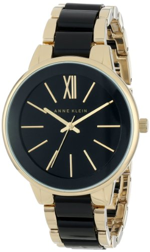 Anne Klein Women's AK/1412BKGB Gold-Tone and Black Dress Watch