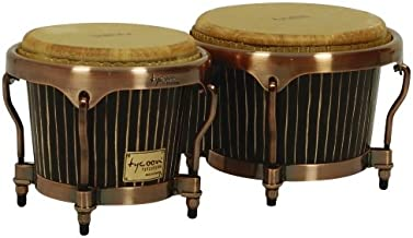 Tycoon Percussion 7 Inch & 8 1/2 Inch Master Hand-Crafted Pinstripe Series Bongos