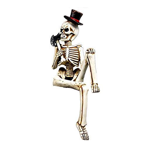 ZLIAO Halloween Skelett Körper Schädel Hand Leben Körper Anatomie Modell Haunted Haus-dekor Mit Battleax Prop Neuheit Spielzeuge Halloween-Dekorationen
