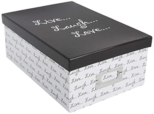 Pioneer Photo Albums B-1BW Photo Storage Box  Live  Laugh  Love Design