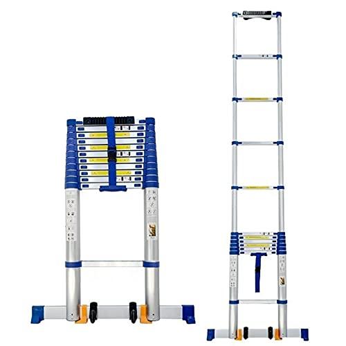 Teleskopleiter Leiter Treppenleiter Teleskopleiter für 8m / 7m / 6m / 5m / 4m Wohnmobil/Dachzelt/Dachboden, Aluminium Verlängerungsteleskopleitern mit Stabilisator & Rädern, 330LB Kapazität