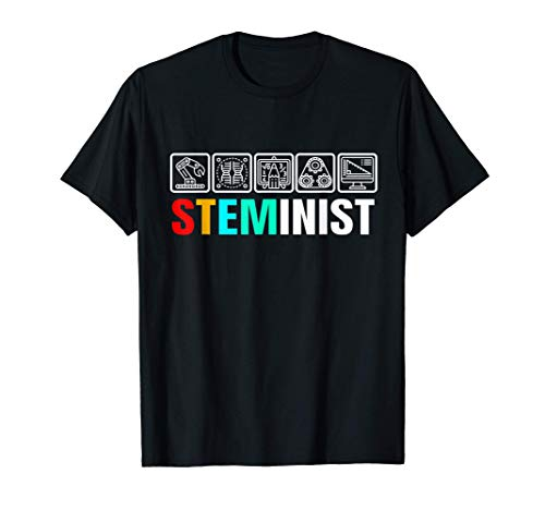 Steminist Womens Scienza Tecnologia Ingegneria e medicina Maglietta
