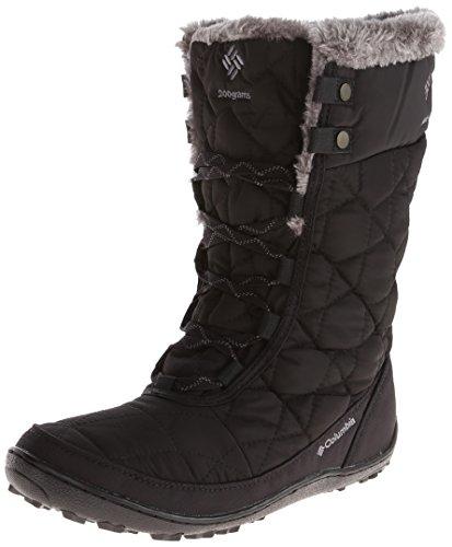 Columbia Women's Minx MID II Omni-Heat Snow Boot, Black, Charcoal, 8 B US