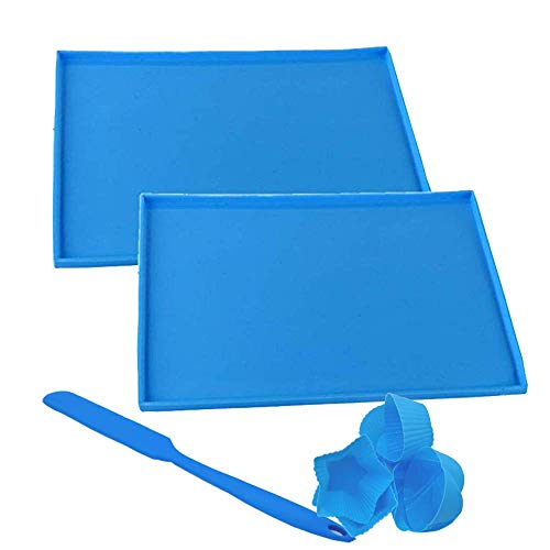 POKALI Silicone Heat Resistant Nonskid Table Mat,Kids Placemat,Placemat Baby and Toddlers, Portable Food Mat Travel Placemat for Toddler,ilicone Cake Roll Maker, Bakeware Baking Tools (10'', Blue)